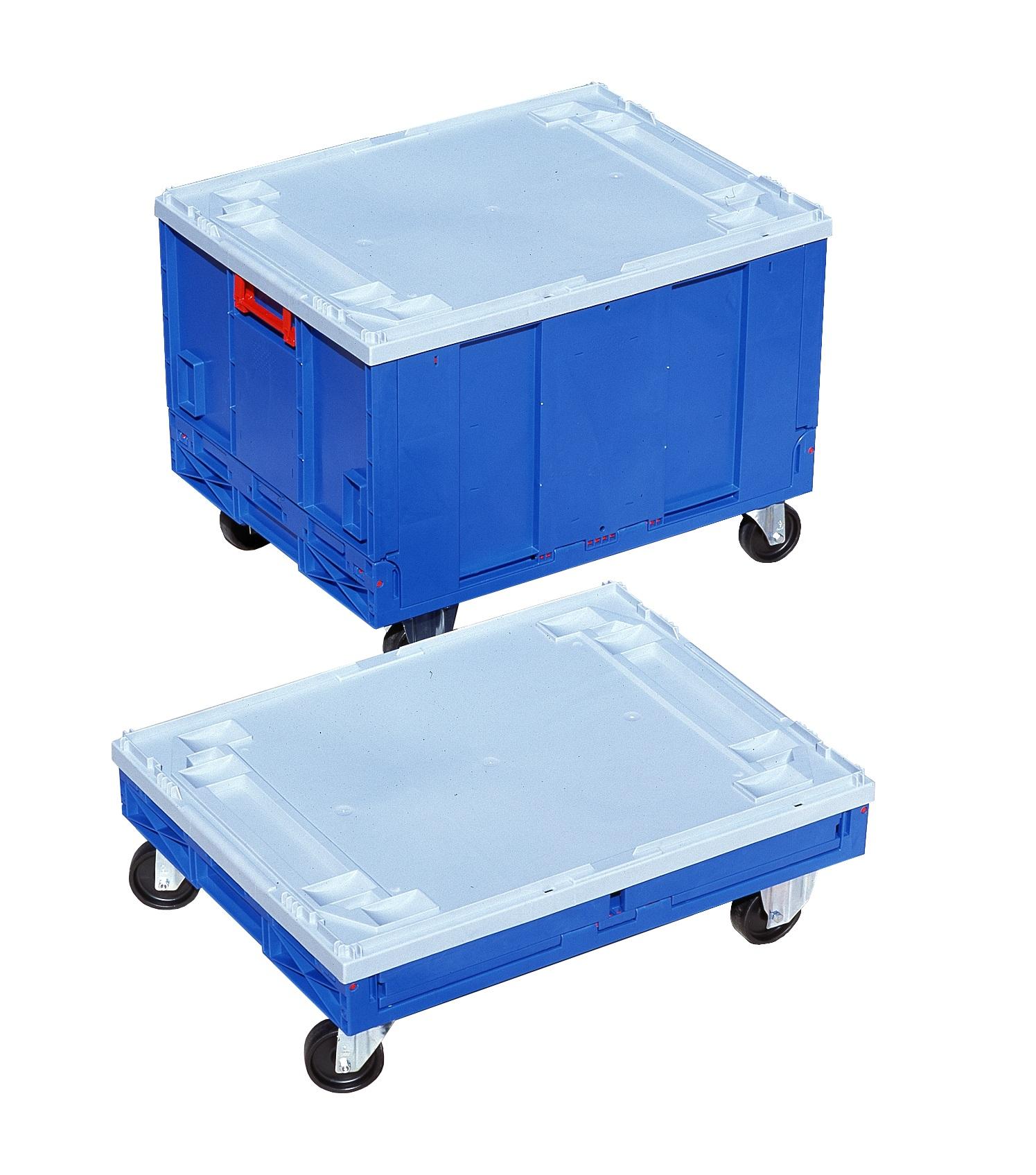 Caja de pl stico plegables con fondo y ruedas for Cajas de plastico plegables