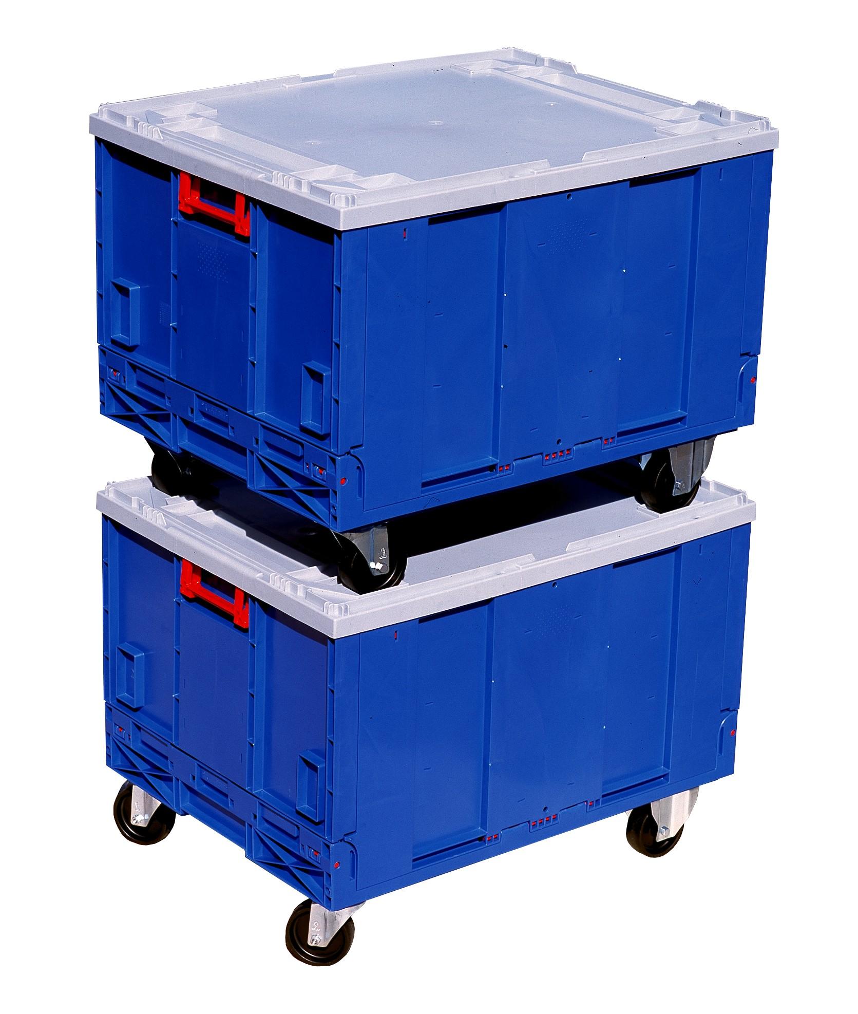 Caja de pl stico plegables con fondo y ruedas - Cajas de plastico con ruedas ...